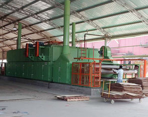 China 3 Layers Mesh Net Belt Roller Veneer Dryer For Plywood Production Line supplier