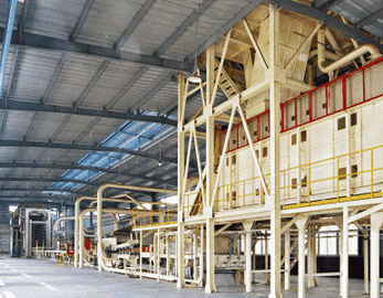 Automatic Particle Board Production Line High Productivity Panel 4 x 8 feet