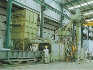 Steel Plate / Proximate Matter Shot Plasting Cleaning Treantment Line