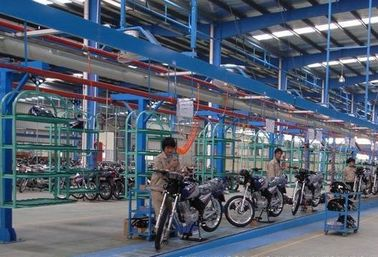 China Electric Motorcycle / Electric Bike Assembly Line Custom Made Size factory